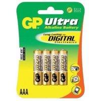 kupit-Батарейки GP battery Ultra Alkaline AAA(4) 24AU-2UE4-v-baku-v-azerbaycane