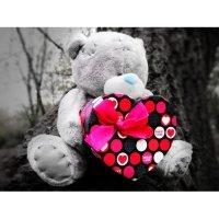 kupit-Мишка Тедди с коробкой подарков-v-baku-v-azerbaycane