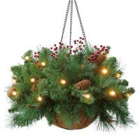 kupit-Корзинка Royal Christmas  HANG  Basket(50sm)-v-baku-v-azerbaycane