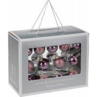 kupit-26 Новогодних шаров - Фиолетовые-v-baku-v-azerbaycane