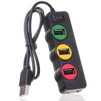 kupit-Punada P-1030 USBHUB светофор 4-порт USB2.0-v-baku-v-azerbaycane