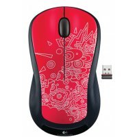 Беспроводная мышь Logitech Red Topogrpahy Graffiti Collection (M325)