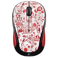 Беспроводная мышь Logitech Red Smile Graffiti Collection (M325)