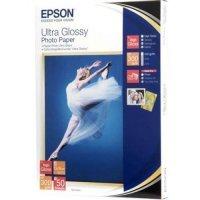 купить Бумага EPSON ULTRA GLOSSY PHOTO PAPER 13x18 50 SHEET (C13S041944)