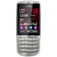 Мобильный телефон Nokia Asha 300 (Silver White)