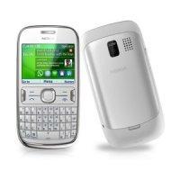 Мобильный телефон Nokia Asha 302 (white, plum red)