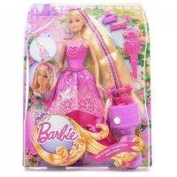 Игра MATTEL Набор с куклой Barbie Королевские волосы (DKB62)