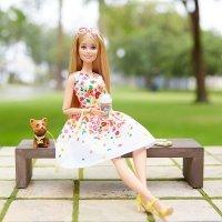 kupit-Игра MATTEL Кукла Barbie Коллекционная прогулка в парке и  Шикарный бассейн (DVP54)-v-baku-v-azerbaycane