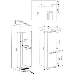 Холодильник Hotpoint-Ariston BCB 80201 AA F C O3 (White)