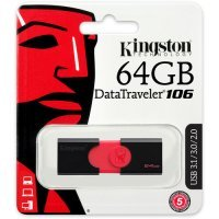 Флеш память USB Kingston 64 GB 3.0 DataTraveler 106 (DT106/64GB)