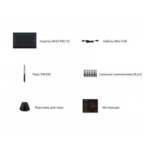 """Профессиональный Графический Планшет Huion H610PRO-V2 10,1"""" NEW"""
