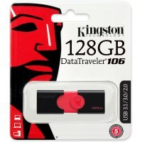 Флеш память USB Kingston 128 GB 3.0 DataTraveler 106 (DT106/128GB)