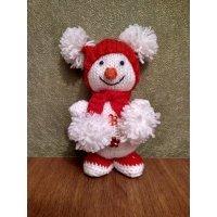 kupit-Ёлочная игрушка Подарок ручной работы (снеговик)-v-baku-v-azerbaycane
