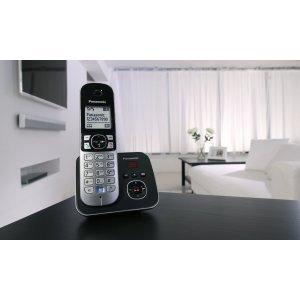 Телефон KX-TG6821FXB  PANASONIC RADIO (черный)