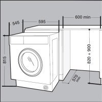 kupit-Встраиваемая cтиральная машина Whirlpool BI WMHG 71484 EU / 7 кг (White)-v-baku-v-azerbaycane