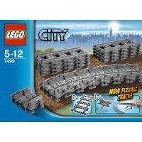 КОНСТРУКТОР LEGO City Гибкие и прямые рельсы (7499)