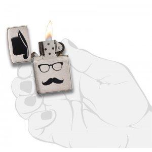 """Зажигалка Zippo """"Moustache & Hat & Glasses"""""""