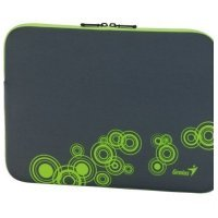 "kupit-Сумка для ноутбука Genius GS-1401, Gray+Green (13~14"" Notebook Sleeve) (31280049102)-v-baku-v-azerbaycane"