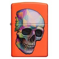 kupit-Зажигалка Zippo Sexy Skeleton Neon Orange-v-baku-v-azerbaycane
