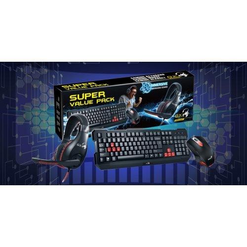 Игровой комплект Клавиатура+мышка+наушники Genius (KMH-200)