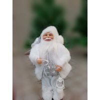 Ёлочная мягкая игрушка Подарок (Дед мороз 25 см)