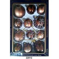 kupit-12 Новогодних шаров Royal Christmas - Коричневые (22012)-v-baku-v-azerbaycane
