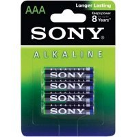 Батарейки Sony alkaline batteries AAA(4) AM4L-B4D