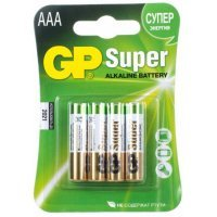 Батарейки GP battery Super Alkaline AAA(4) 24A-2UE4