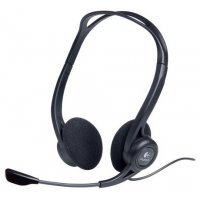 Гарнитура с микрофоном HP Stereo USB Headset / Black (T1A67AA)