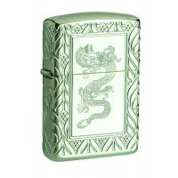 Зажигалка Zippo Premium Armor® High Polish Green Elegant Dragon
