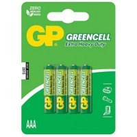 Батарейки GP battery Greencell AAA(4) 24G-2UE4