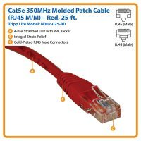 kupit-Кабель Tripp Lite Cat5e 350MHz Molded Patch Cable RJ45M/M - 25 ft. (7,5m) (N002-025)-v-baku-v-azerbaycane