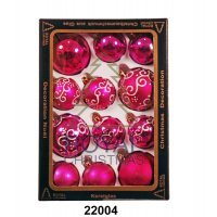 kupit-12 Новогодних шаров Royal Christmas - Розовые (22004)-v-baku-v-azerbaycane