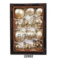 kupit-12 Новогодних шаров Royal Christmas - Серебристые (22002)-v-baku-v-azerbaycane