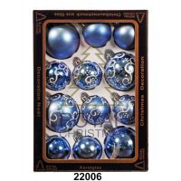 kupit-12 Новогодних шаров Royal Christmas - Голубые (22006)-v-baku-v-azerbaycane