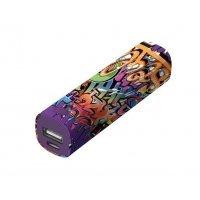 Портативное зарядное устройство (Power Bank) Trust Tag PowerStick 2600 - graffiti text (20867)