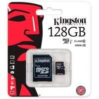Карта памяти Kingston 128GB microSDXC Canvas Select 80R CL10 (SDCS/128GB)