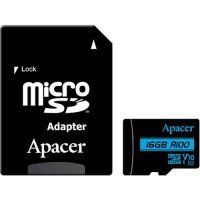 kupit-Карта памяти Apacer 16 GB microSDHC UHS-I U1 V10 Class 10 + SD adapter (AP16GMCSH10U6-R)-v-baku-v-azerbaycane