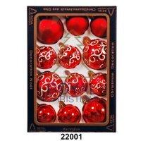kupit-12 Новогодних шаров Royal Christmas - Красные (22001)-v-baku-v-azerbaycane