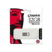 kupit-Флеш память USB Kingston 32 GB DTMicro USB 3.1/3.0 Type-A metal ultra-compact drive (DTMC3/32GB)-v-baku-v-azerbaycane