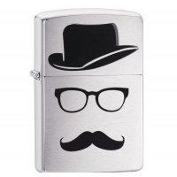 "kupit-Зажигалка Zippo ""Moustache & Hat & Glasses""-v-baku-v-azerbaycane"