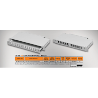 "kupit-Mirsan 1U 19"" 12 Port SCD, M Type Fiber Optical Box (MR.FOM1U12SCD.07)-v-baku-v-azerbaycane"