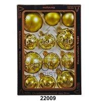 kupit-12 Новогодних шаров Royal Christmas - Лимонно-Зелёные (22009)-v-baku-v-azerbaycane