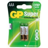 Батарейки GP battery Super Alkaline AAA(2) 24A-2UE2