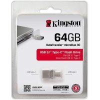 kupit-Флеш память USB Kingston 64GB DT microDuo 3C (DTDUO3C/64GB)-v-baku-v-azerbaycane