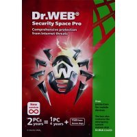 Антивирус Dr.Web Security Space renewal card (2PC/1 year) (BSW-W12-0002-2)