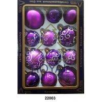 kupit-12 Новогодних шаров Royal Christmas - Фиолетовые (22003)-v-baku-v-azerbaycane