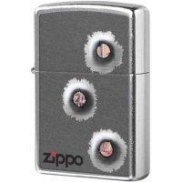 kupit-Зажигалка Zippo Bullet Holes-v-baku-v-azerbaycane