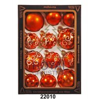 kupit-12 Новогодних шаров Royal Christmas - Оранжевые (22010)-v-baku-v-azerbaycane