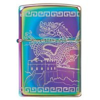 kupit-Зажигалка Zippo Great Wall Of China Dragon, 360° Engraved-v-baku-v-azerbaycane